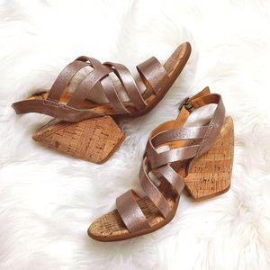 Kork's by Kork-ease cork block sandal wedges